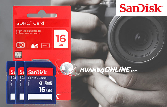 Thẻ Nhớ Micro Sdhc Sandisk 16G Class 4 Chính Hãng