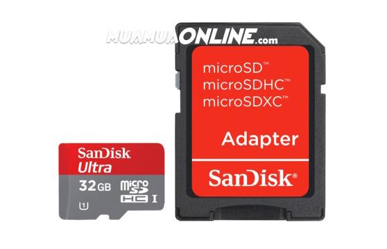 Thẻ Nhớ Sdhc Sandisk 32Gb Class 10 Chính Hãng