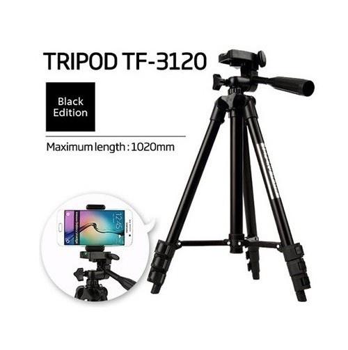 Giá Đỡ Chụp Hình Tripod 3 Chân 3120 + Đầu Kẹp Cao Cấp