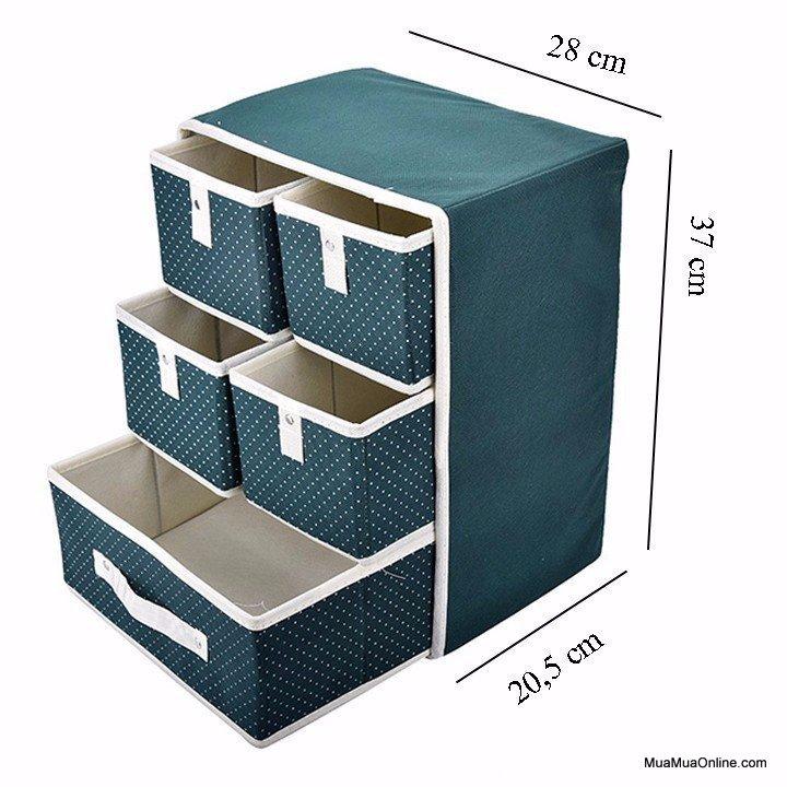Tủ Vải 5 Ngăn 3 Tầng Đựng Đồ Tiện Dụng