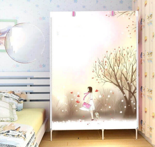 Tủ Vải Xếp 3D Nhiều Ngăn Tiện Dụng (108X43X170)