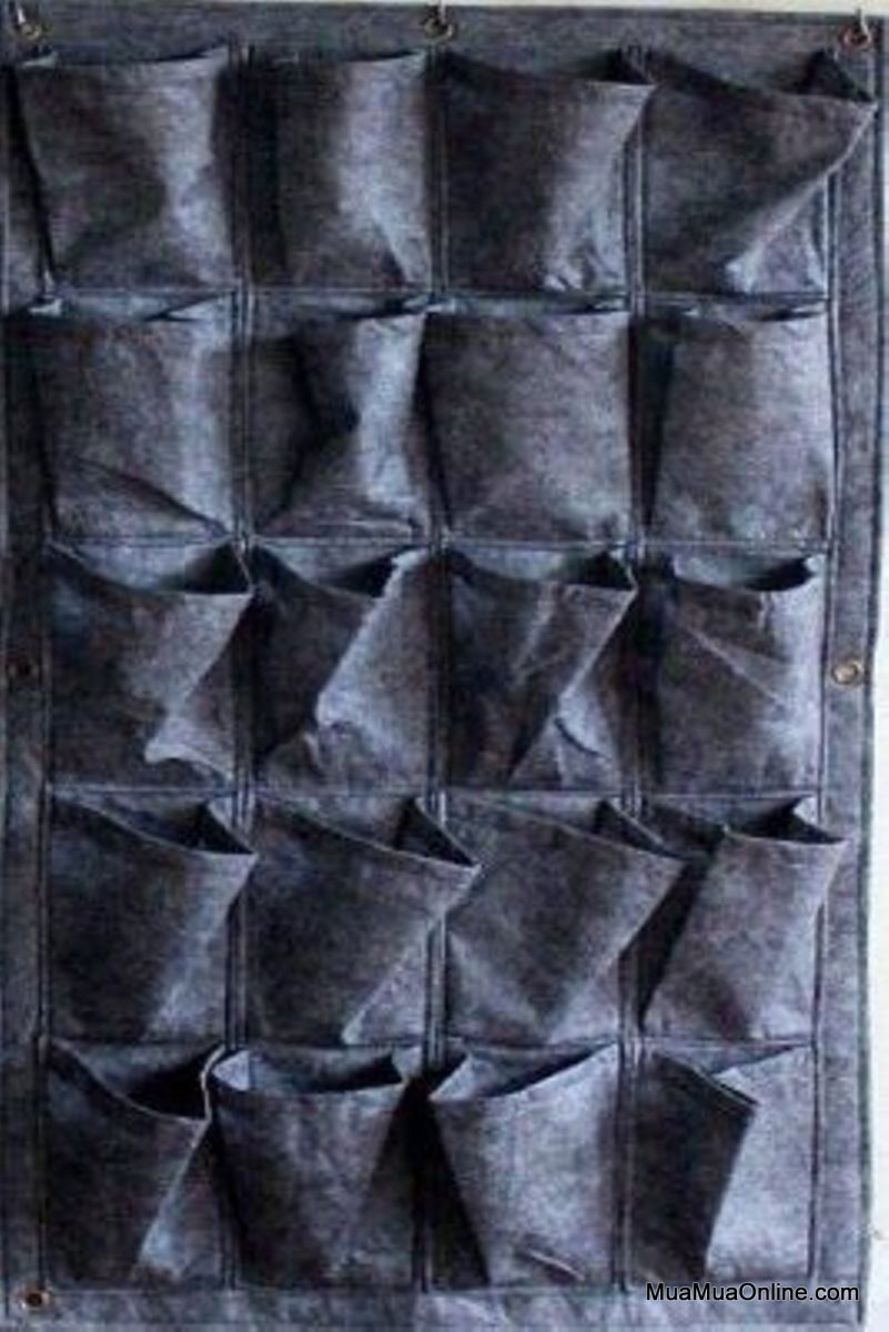 Túi Vải Treo Tường Trồng Cây 20 Ngăn Vải Không Dệt Cao Cấp
