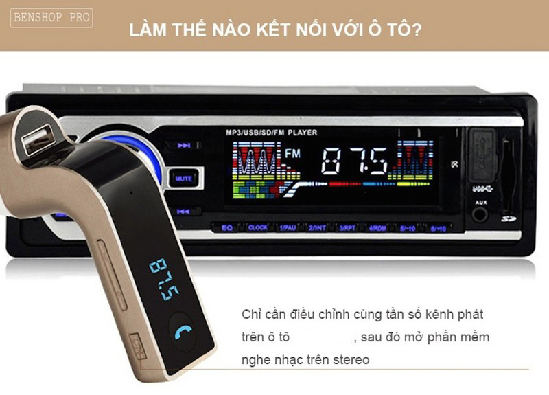 Usb Bluetooth 5 Trong 1 Trên Xe Hơi, Ô Tô Cao Cấp