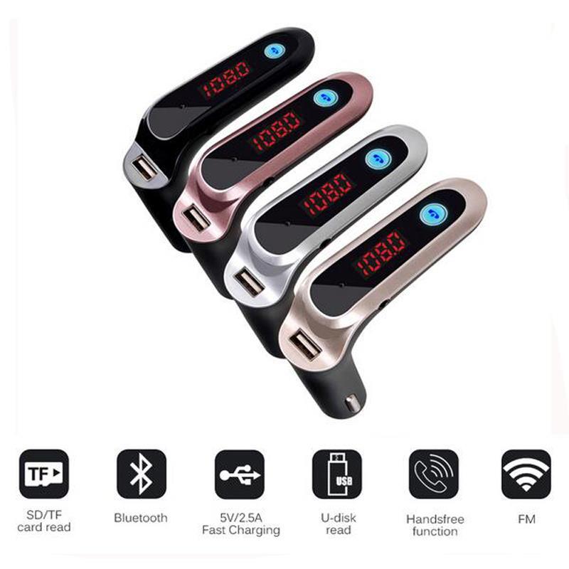 Usb Bluetooth Cars7 5In1 Trên Xe Hơi, Ô Tô Cao Cấp