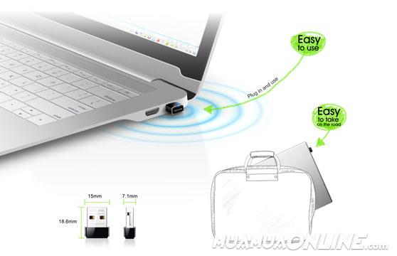 Usb Thu Wifi Tp-Link Wn-725N Nano Chính Hãng Bắt Sóng Cực Mạnh