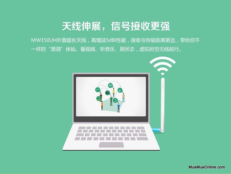 Usb Thu Wifi Mercury Mw150Uh Chính Hãng