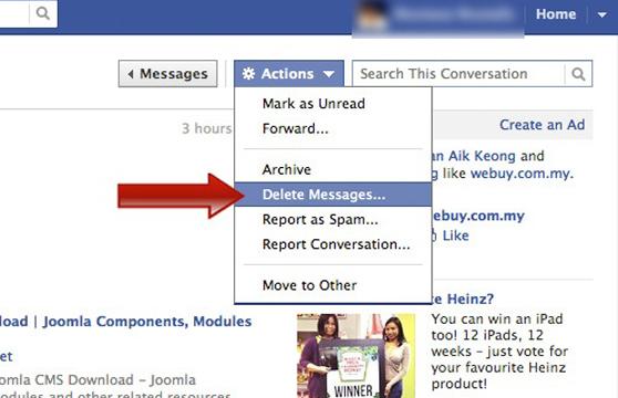 2 cách xóa tất cả tin nhắn trên facebook nhanh nhất