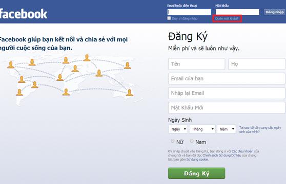 Làm sao để lấy lại mật khẩu facebook cá nhân